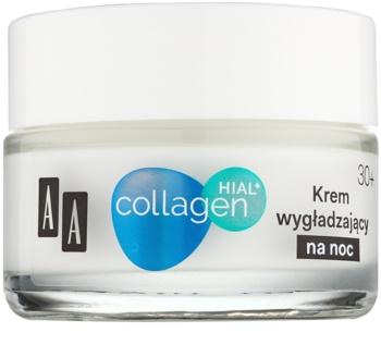 AA Cosmetics Collagen HIAL+ creme de noite suavizante 30+