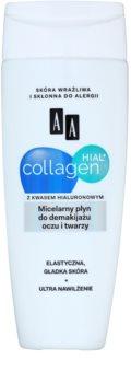 AA Cosmetics Collagen HIAL+ мицеллярный очищающий раствор для лица и кожи вокруг глаз