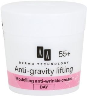 AA Cosmetics Dermo Technology Anti-Gravity Lifting Ryppyjä Ehkäisevä Muokkaava Voide 55+