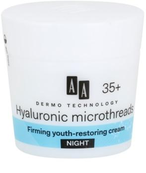 AA Cosmetics Dermo Technology Hyaluronic Microthreads Elvyttävä Ja Tasoittava Yövoide 35+