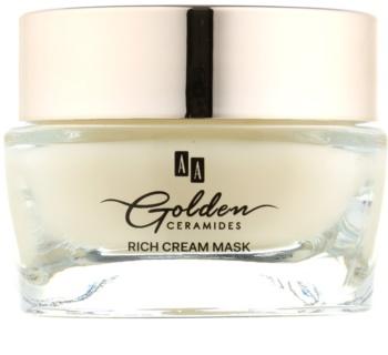 AA Cosmetics Golden Ceramides máscara creme restauradora com ouro