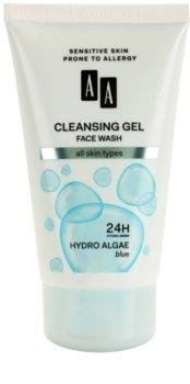 AA Cosmetics Hydro Algae Blue čistiaci pleťový gél na tvár, krk a dekolt