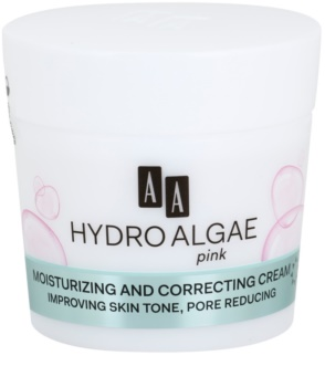 AA Cosmetics Hydro Algae Pink crema unificante per idratare la pelle e restringere i pori