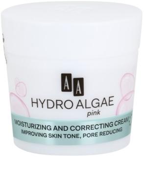 AA Cosmetics Hydro Algae Pink Väriä Korjaava Voide Kosteuttamiseen Ja Huokosten Minimointiin