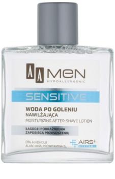 AA Cosmetics Men Sensitive Aftershave lotion  met Hydraterende Werking