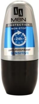 AA Cosmetics Men Sensitive roll-on antibacteriano sem perfume