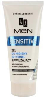 AA Cosmetics Men Sensitive Gel til intimhygiejne med fugtgivende virkning