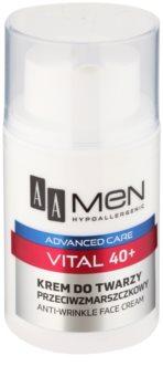 AA Cosmetics Men Vital 40+ Anti-Rimpel Crème  tegen Huidveroudering
