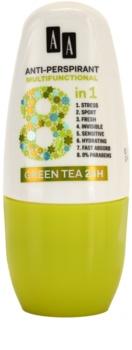 AA Cosmetics Multifunctional Green Tea 24H antiperspirant roll-on 8 v 1