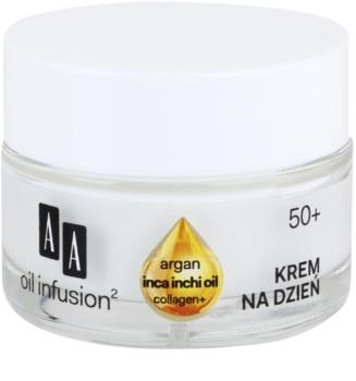 AA Cosmetics Oil Infusion2 Argan Inca Inchi 50+ liftingujący krem na dzień przeciw zmarszczkom