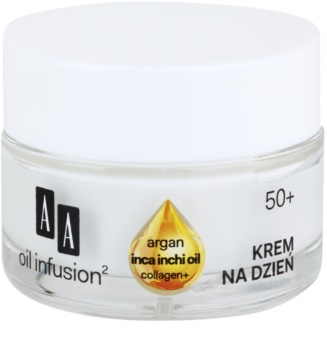 AA Cosmetics Oil Infusion2 Argan Inca Inchi 50+ Lyftande dagkräm med effekt mot rynkor