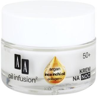 AA Cosmetics Oil Infusion2 Argan Inca Inchi 50+ нощен регенериращ крем с моделиращ ефект