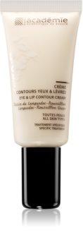 Academie All Skin Types spevňujúci krém na kontúry očí a pier pre všetky typy pleti