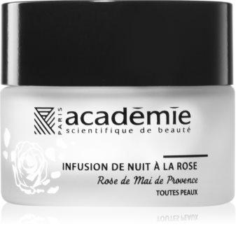 Académie Scientifique de Beauté Aromathérapie Night Infusion Rose Cream crème de nuit régénératrice au beurre de karité et extrait de rose