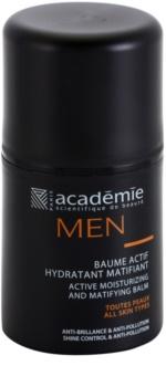 Academie Men bálsamo hidratante ativo com efeito matificante