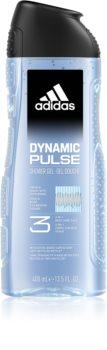 Adidas Dynamic Pulse gel de dus pentru față, corp și păr 3 in 1
