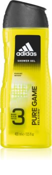 Adidas Pure Game Shower Gel for Face, Body, and Hair 3 in 1