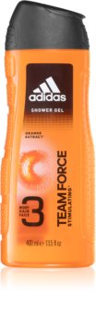 Adidas Team Force gel doccia per viso, corpo e capelli 3 in 1
