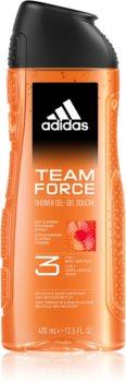 Adidas Team Force gel za prhanje za obraz, telo in lase 3v1