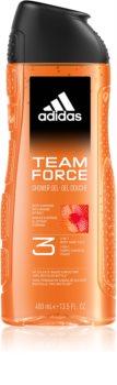 Adidas Team Force sprchový gel na obličej, tělo a vlasy 3 v 1