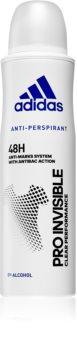 Adidas Pro Invisible antitranspirante antimanchas blancas para mujer