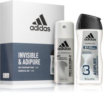 Adidas Invisible & Adipure zestaw upominkowy dla mężczyzn