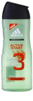 Adidas 3 Active Start gel de douche pour homme