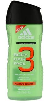 Adidas 3 Active Start Shower Gel