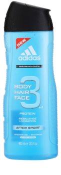 Adidas 3 After Sport gel de douche pour homme