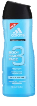 Adidas 3 After Sport gel doccia per uomo