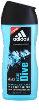 Adidas Ice Dive gel de dus pentru bărbați