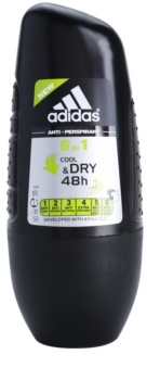 Adidas 6 in 1 Cool & Dry deodorant roll-on para homens 50 ml