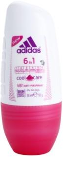 Adidas 6 in 1  Cool & Care deodorante roll-on da donna