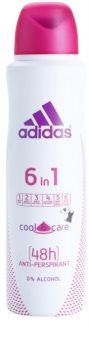 Adidas 6 in 1  Cool & Care antitranspirante en spray
