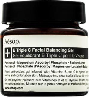 Aēsop B Triple C Facila Balancing Gel Antioxidatives Hautgel mit Vitaminen