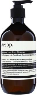 Aēsop Body Geranium Leaf почистващ душ гел