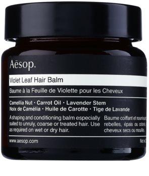 Aēsop Hair Violet Leaf tvarující balzám pro nepoddajné a krepatějící se vlasy