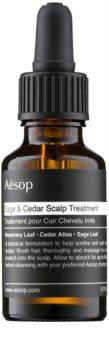 Aēsop Hair Sage & Cedar увлажняющее лечебное средство для нанесения на волосы перед мытьем