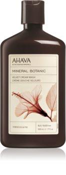 Ahava Mineral Botanic Hibiscus & Fig бархатистый крем для душа