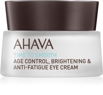 Ahava Time To Smooth crema hidratante para contorno de ojos con efecto alisante