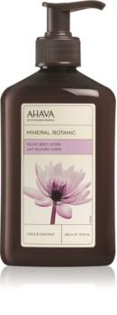 Ahava Mineral Botanic Lotus & Chestnut jedwabiste mleczko do ciała