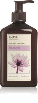 Ahava Mineral Botanic Lotus & Chestnut бархатистое молочко для тела