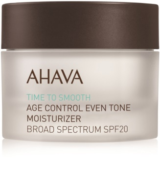 Ahava Time To Smooth posvetlitvena vlažilna krema SPF 20