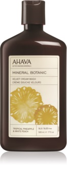 Ahava Mineral Botanic Tropical Pineapple & White Peach бархатистый крем для душа