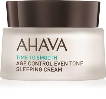 Ahava Time To Smooth crema de noche iluminadora para las primeras señales de envejecimiento de la piel