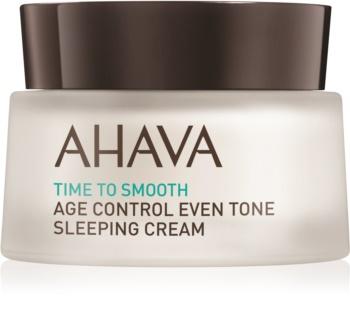 Ahava Time To Smooth rozjaśniający krem na noc przeciw pierwszym oznakom starzenia skóry