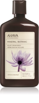 Ahava Mineral Botanic Lotus & Chestnut crema doccia effetto velluto