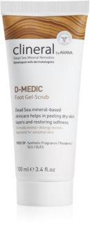 Ahava Clineral D-MEDIC gel peeling com textura fina para pernas