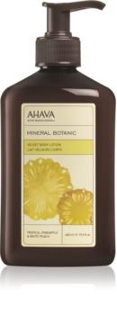 Ahava Mineral Botanic Tropical Pineapple & White Peach Körpermilch mit Samteffekt