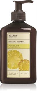 Ahava Mineral Botanic Tropical Pineapple & White Peach бархатистое молочко для тела